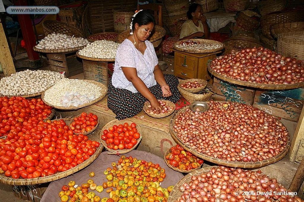 Mandalay Mercado de Productos Agricolas de Mandalay Myanmar Mandalay