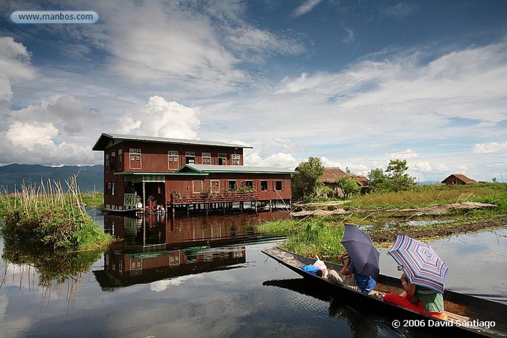 Lago Inle Artesano en Kaung Daing Lago Inle Myanmar Lago Inle