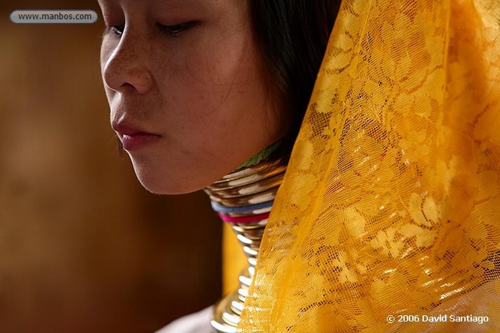 Lago Inle Mujer Jirafa en Kaung Daing Lago Inle Myanmar Lago Inle
