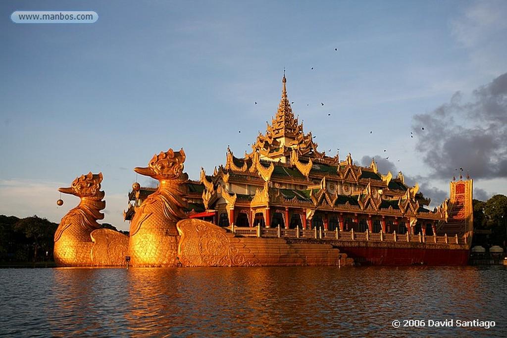 Yangon Karaweik en el Lago Kandgawgyi yangon Myanmar Yangon