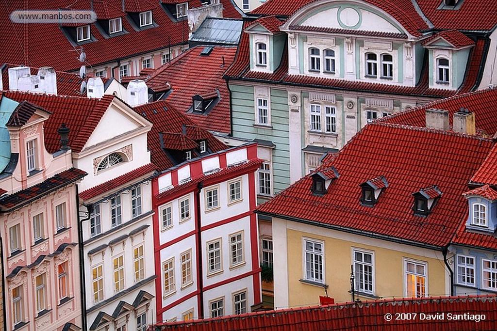 Praga La Plaza y los tejados de Stare Mesto desde la Torre del Ayuntamiento Praga