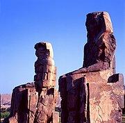 Colosos de Memnon, Medinet Habu, Egipto