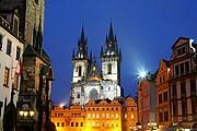 Photo of Prague, Old Town Hall, Czech Republic - Ayuntamiento de la Ciudad Vieja e Iglesia de la Vigen de Tyn