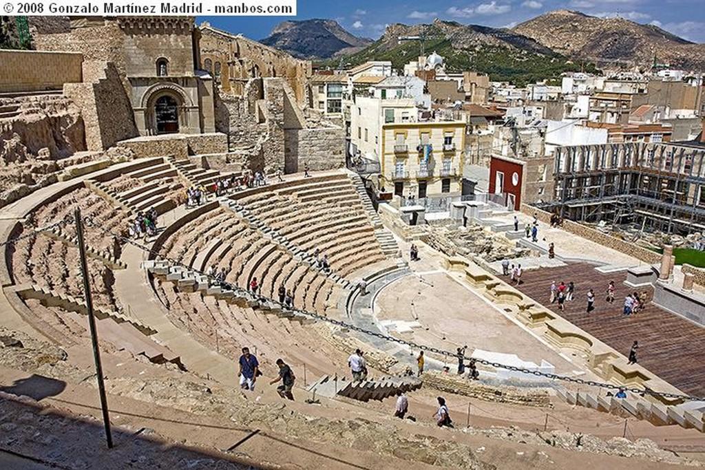 Cartagena Parte de la fachada escénica del Teatro Romano Murcia