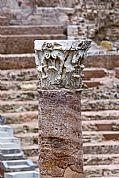 Camara Canon EOS 30D Detalle de columna y capitel del Teatro Romano. Gonzalo Martínez Madrid CARTAGENA Foto: 17366