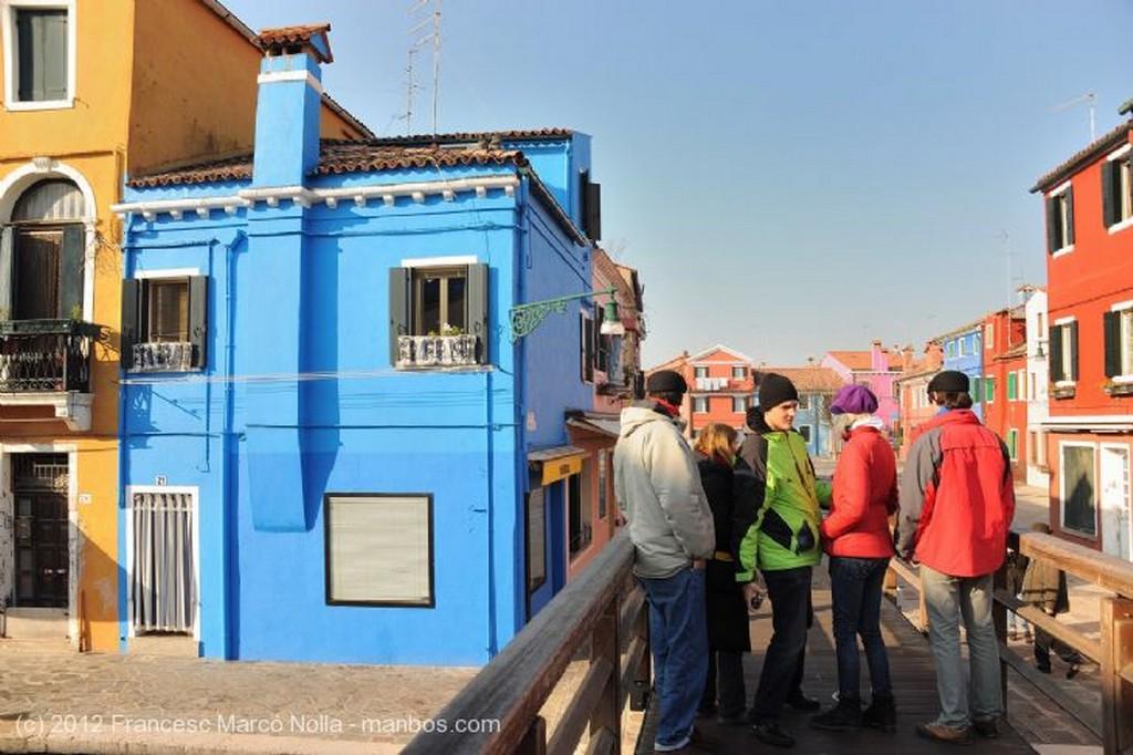 Burano Desde el Puente Venecia