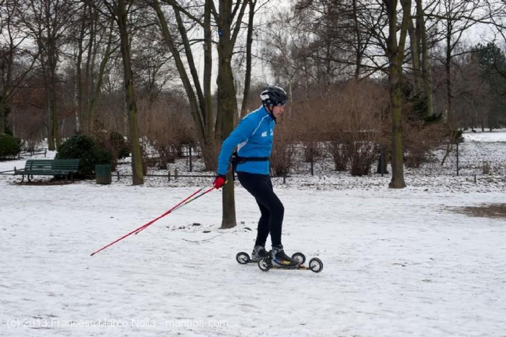 Berlin Esquiando en Tiergarten Berlin
