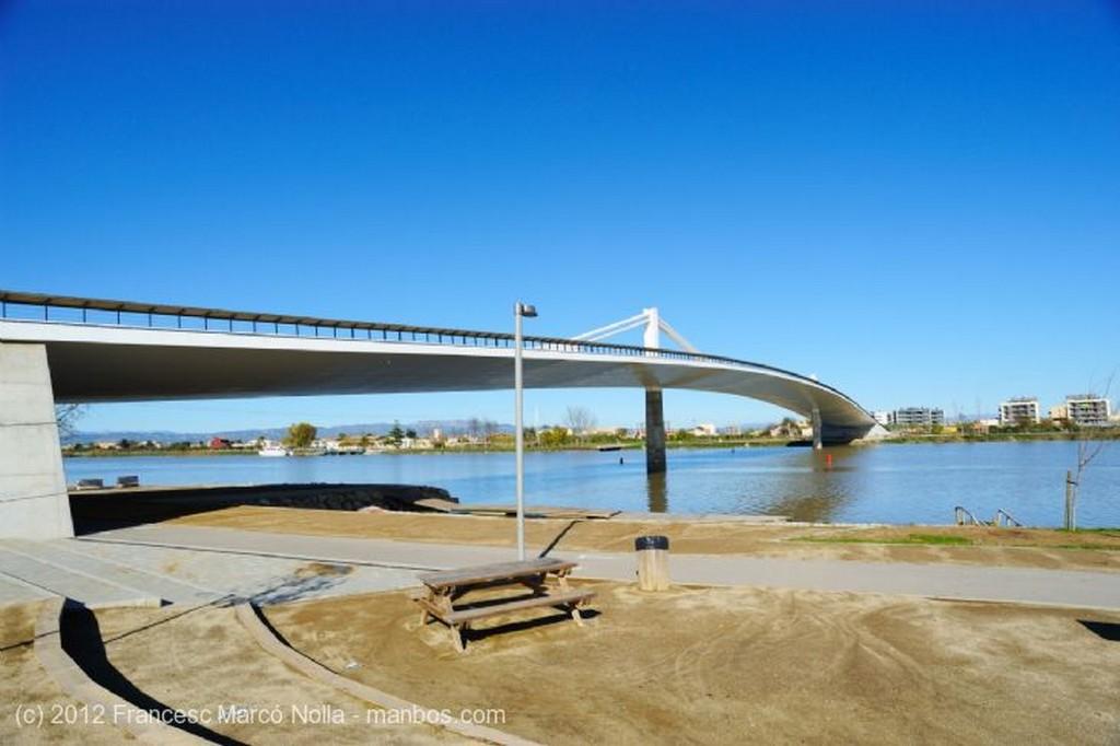 El Delta del Ebro Puente Nuevo Sobre el Rio Ebro Tarragona