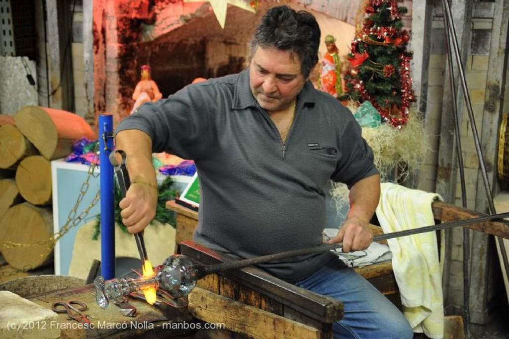 Murano Maestro Artesano del Vidrio Venecia