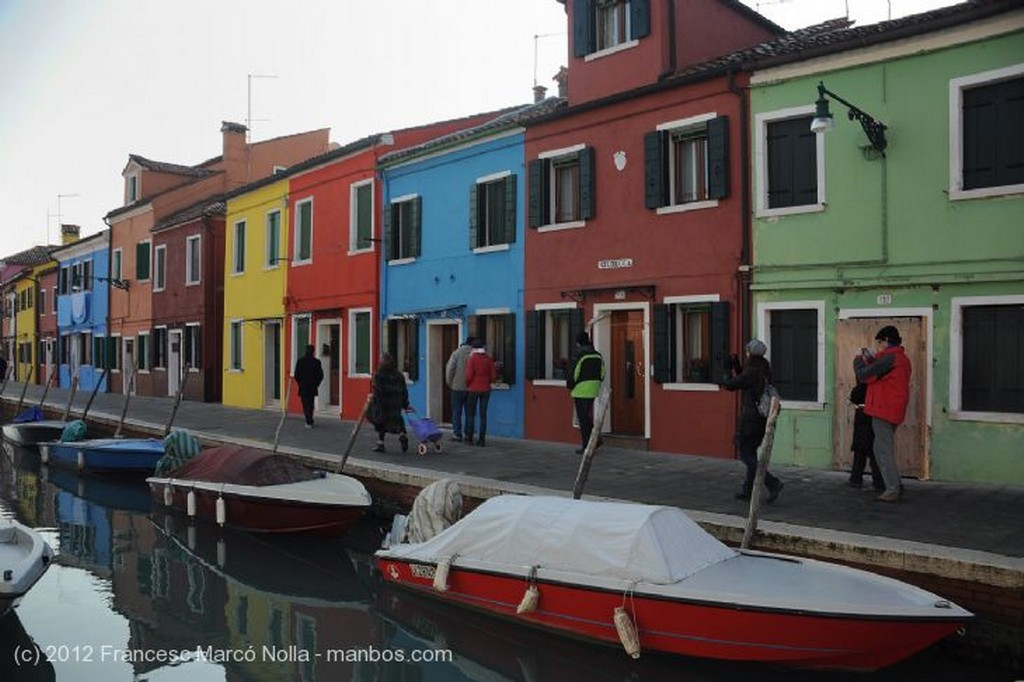 Burano  Grupo de Turistas Venecia