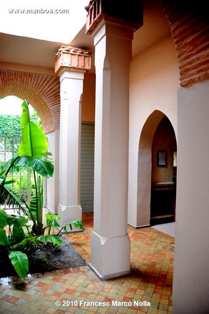 Marruecos  patio con fuente- la palmeraie-marrakech Marruecos