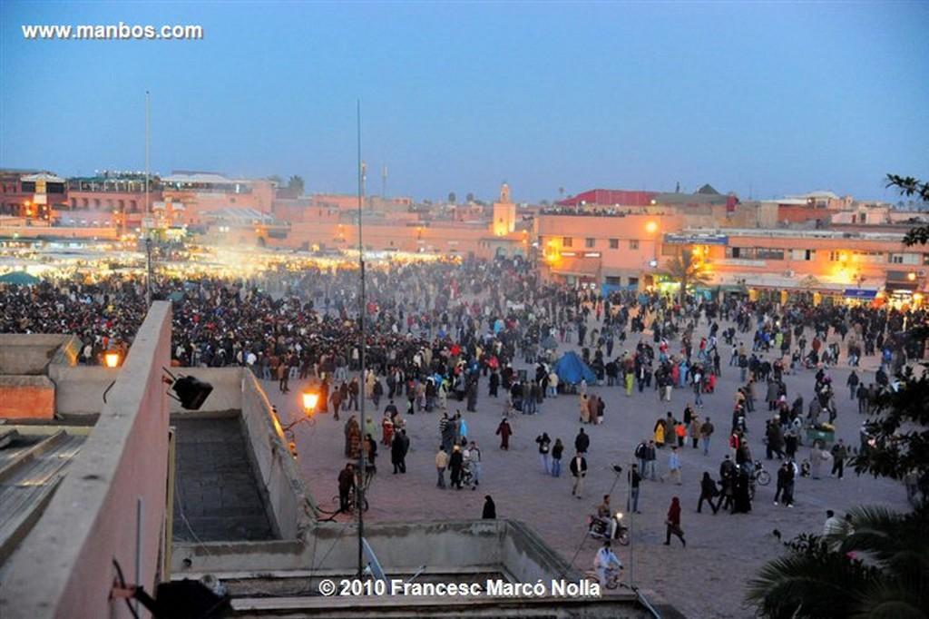 Marruecos   atardecer- riad la medina-marrakech Marruecos
