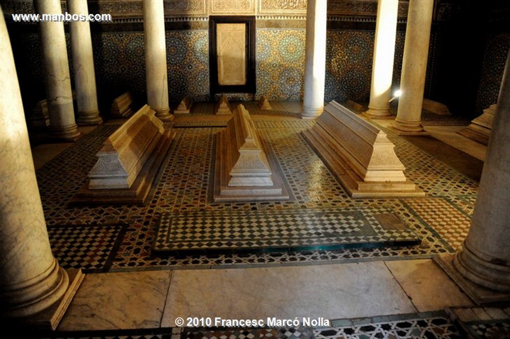 Marruecos  tumbas sahadies-marrakech Marruecos