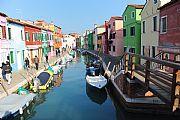 Canal de Burano, Burano, Italia