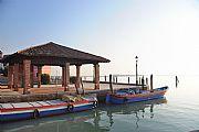 Embarcadero de la Laguna de Burano, Burano, Italia