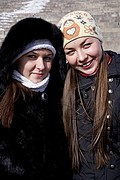 Foto de Helsinki, Finlandia - Chicas rusas hacen turismo en Helsinki