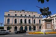 Camara Canon EOS 350D DIGITAL Teatro principal y Estatua del Cid Burgos BURGOS Foto: 12550