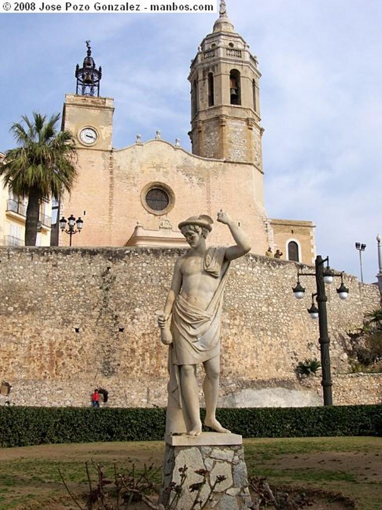 Sitges Iglesia de Sitges Barcelona