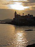Platja de Sant Sebastia, Sitges, España
