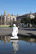 Plaza de Catalunya, Barcelona, España