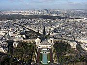 Palais Chaillot y La Défense desde Tour Eiffel, Paris, Francia