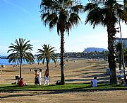 Playa de la Barceloneta, Barcelona, España
