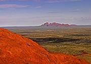 Camara Canon EOS 10D Vista del Olgas desde el Uluru Australia PARQUE NACIONAL ULURU-KATA TJUTA Foto: 14598