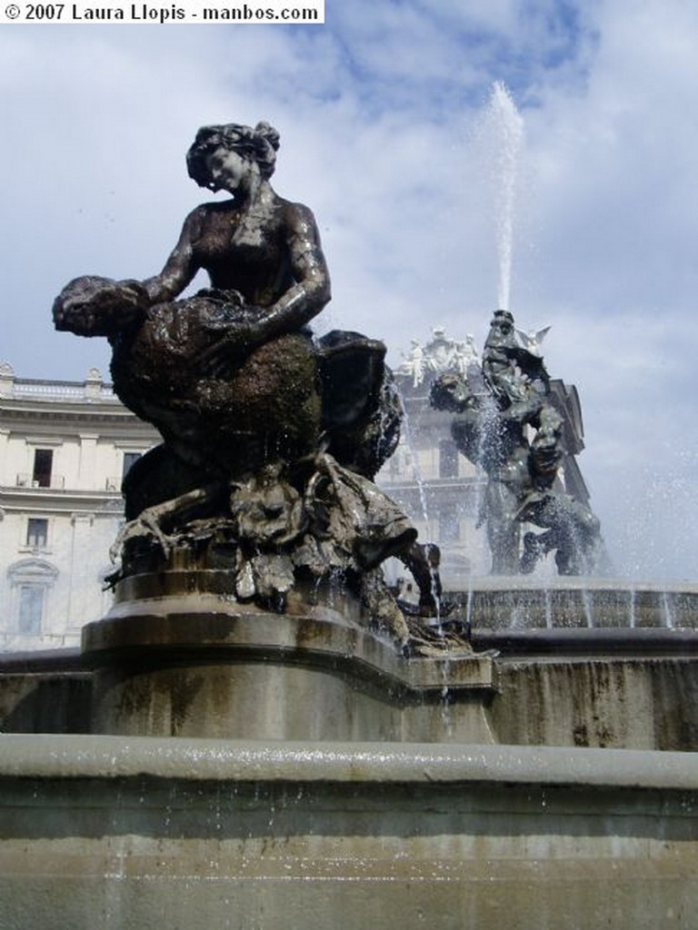 Roma Fontana Naiade Roma