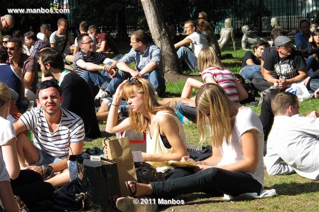 Londres Parque del Soho Londres Londres