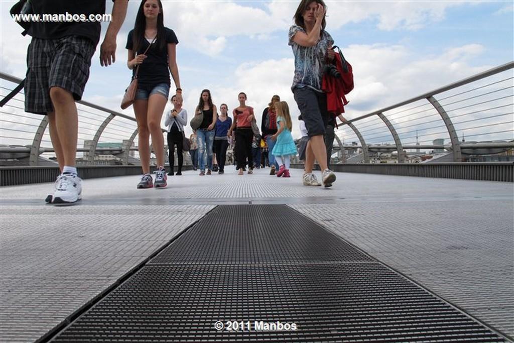 Londres Milennium Bridge Londres Londres