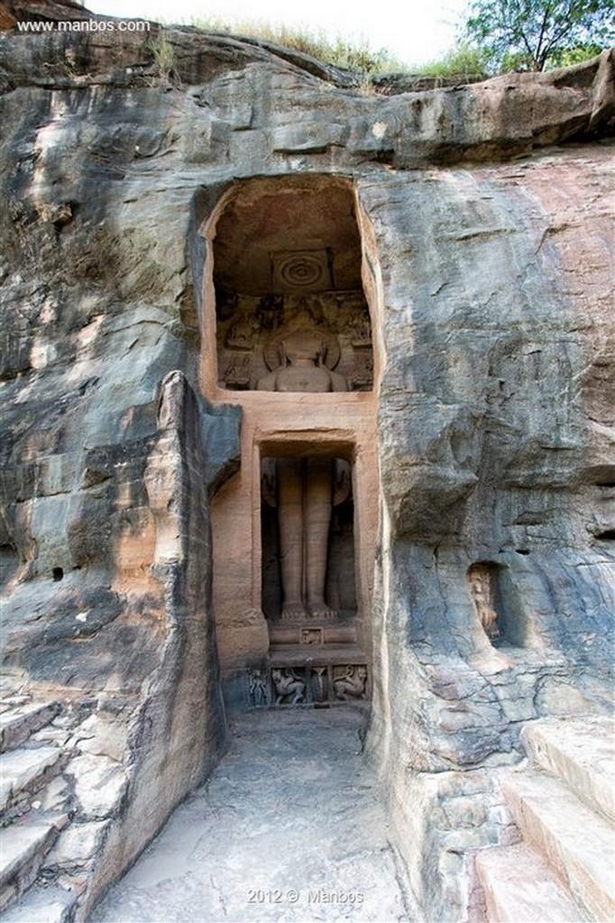 Gwalior Figuras Jainistas Madya Pradesh