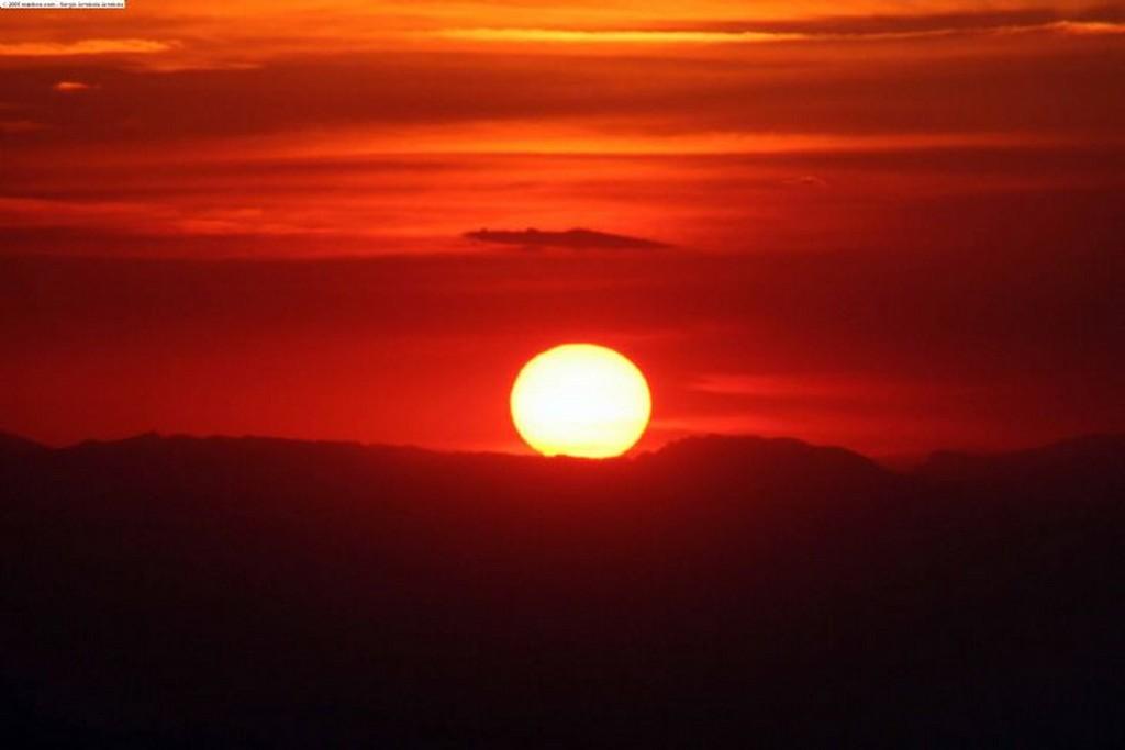 Parque natural del Montseny Otra puesta de sol Barcelona