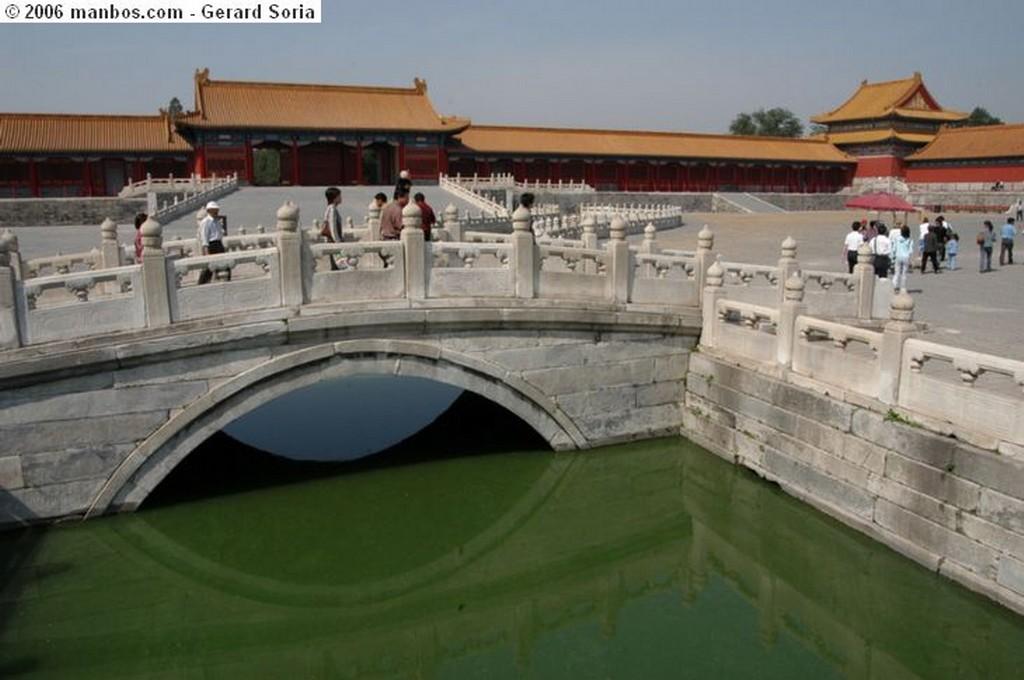 Pekin Entrando en la ciudad prohibida Pekin