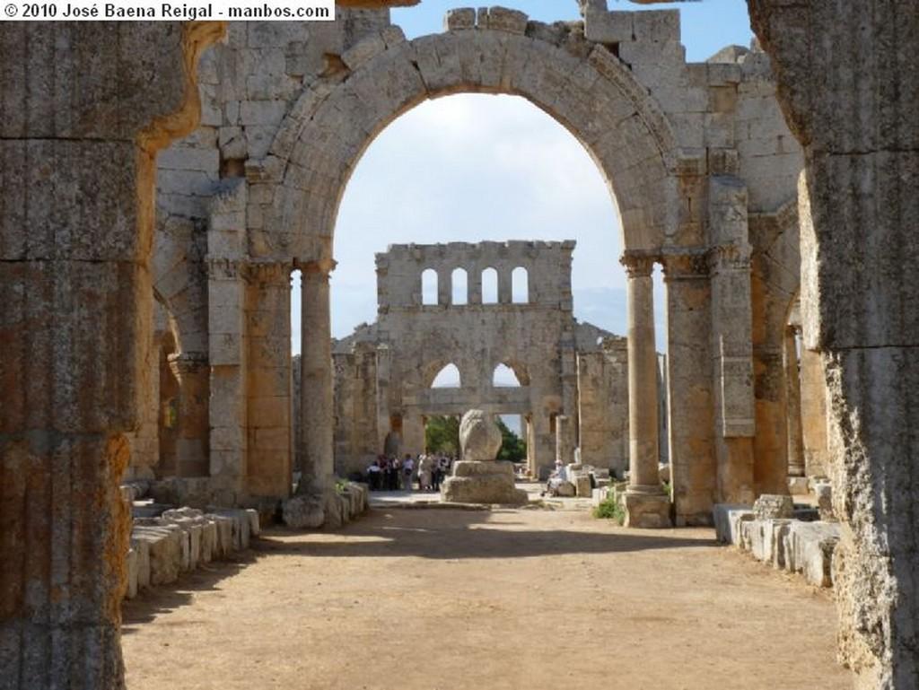 Alepo Vista desde Qalaat Samaan Alepo