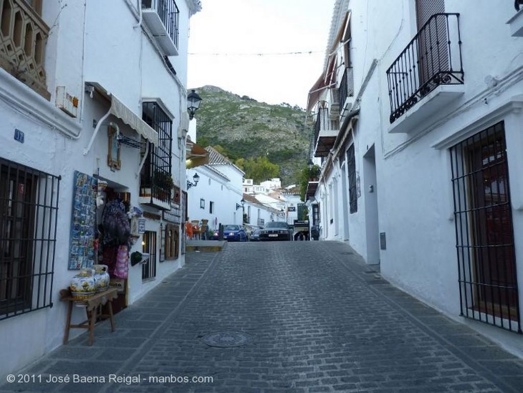Mijas Terraza al anochecer Malaga
