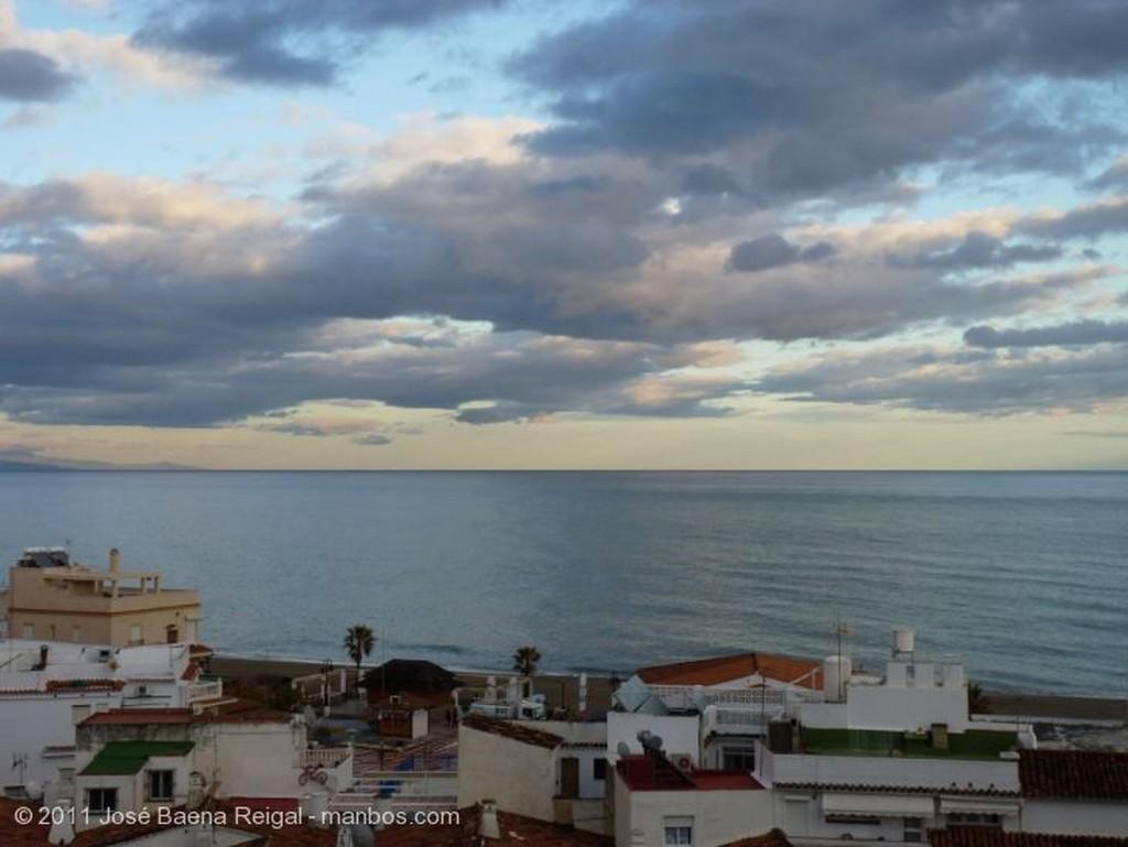 Torremolinos Anochecer en la Bahia de Malaga Malaga