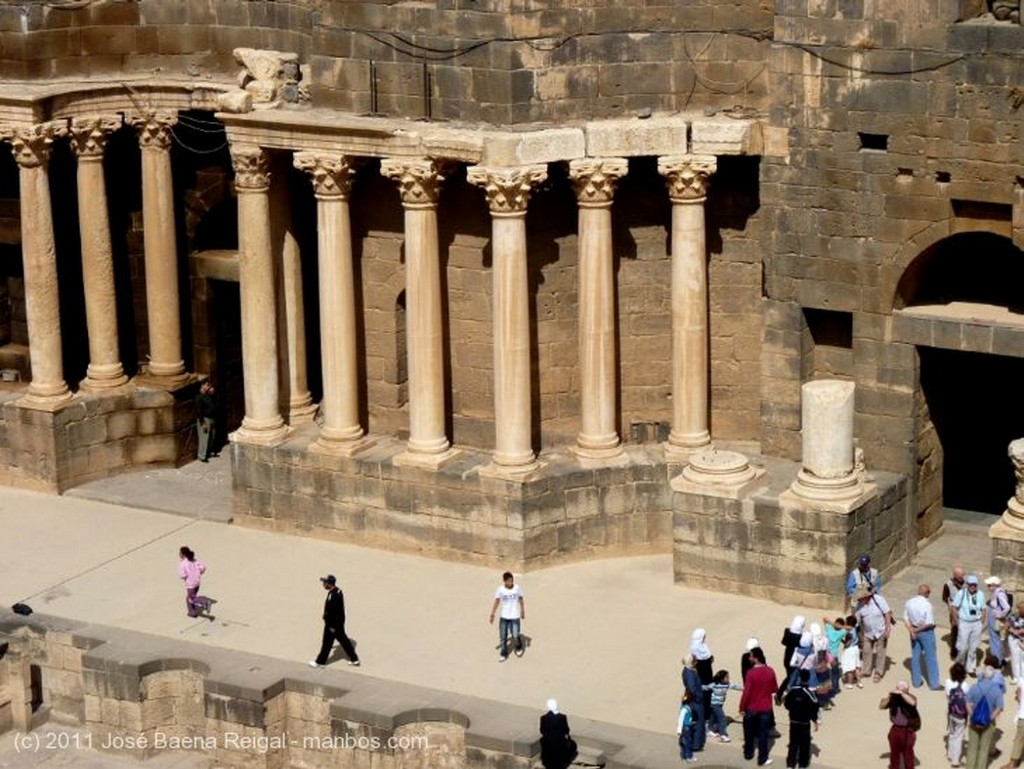 Bosra Asombro de visitantes Dera