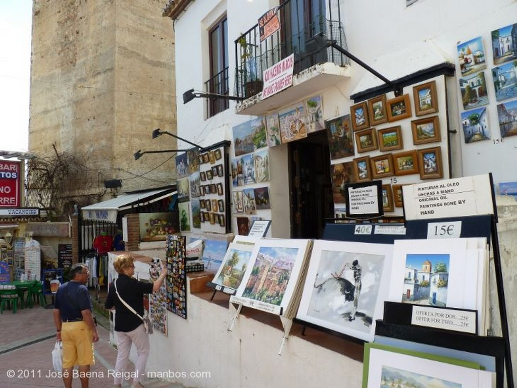 Malaga Fuente y surtidor Malaga