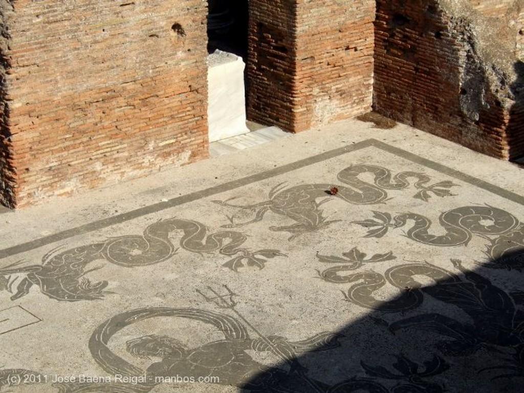 Ostia Antica Mosaico marino Roma