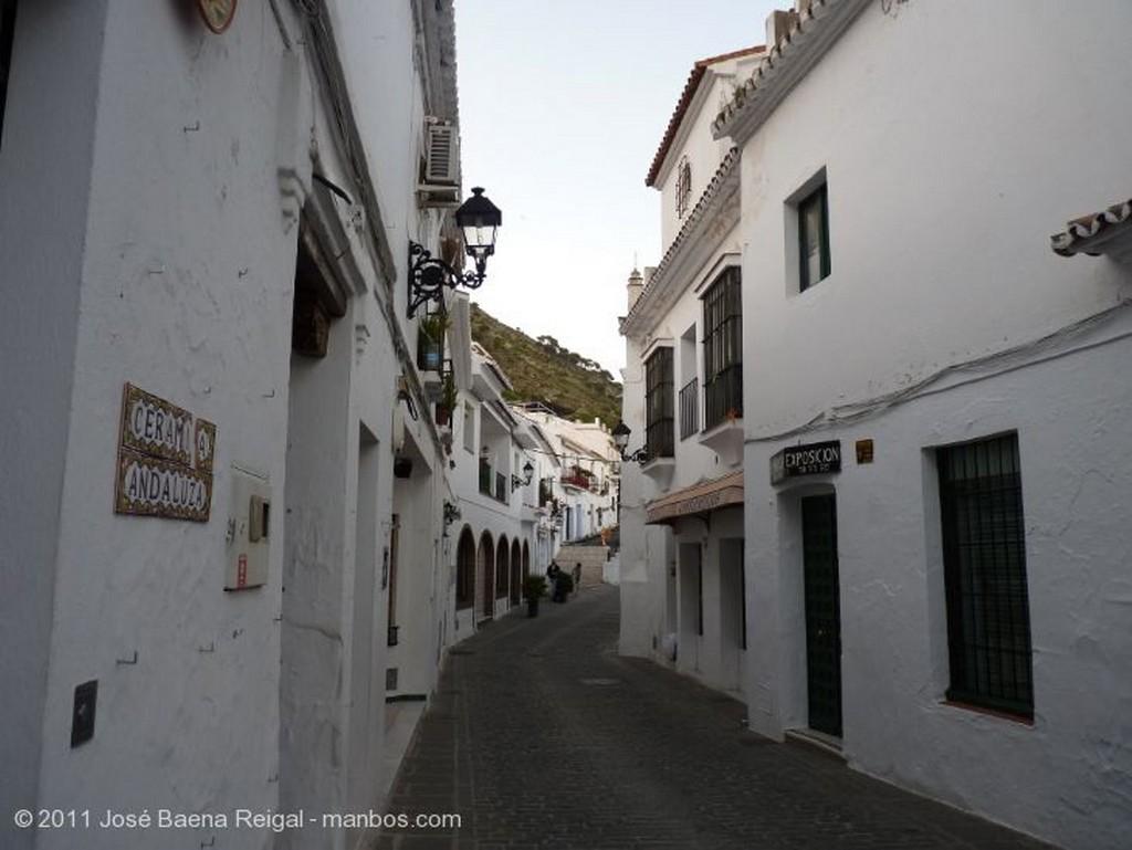 Mijas Calles al anochecer Malaga