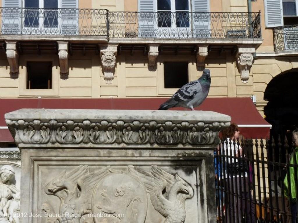Siena Hornacina con santa Toscana