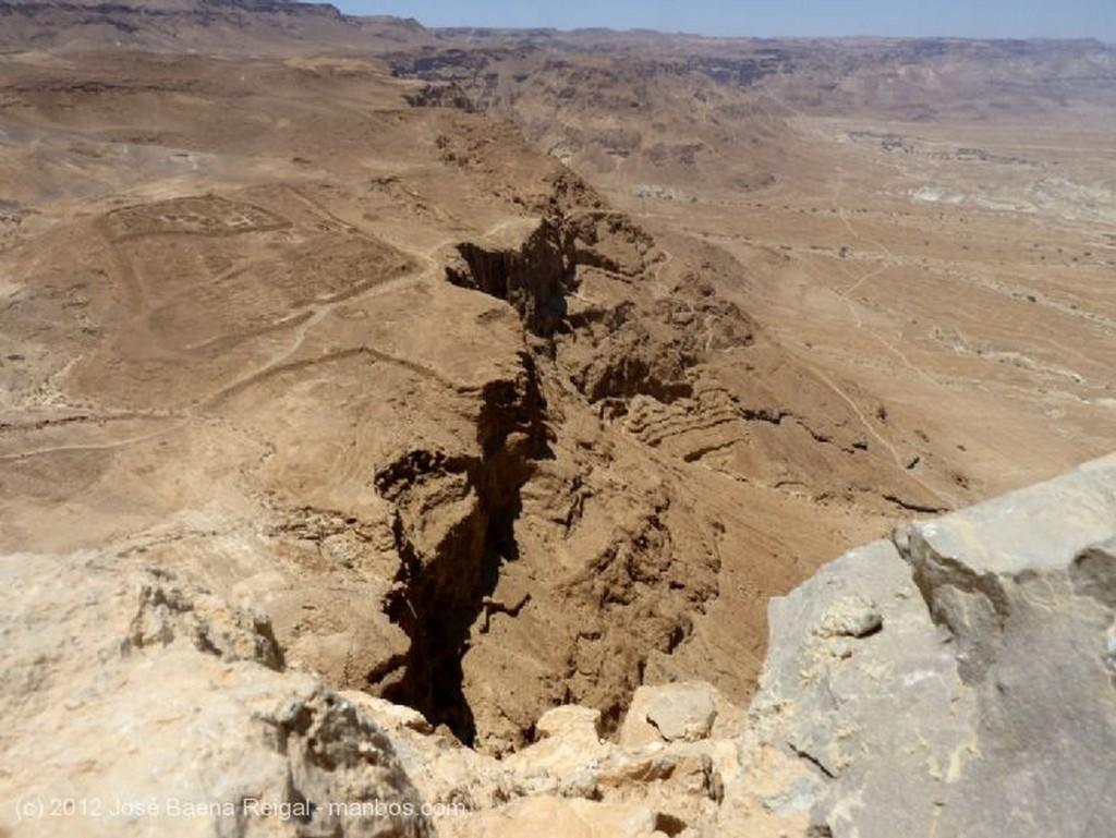 Masada Vista del campamento romano Distrito Meridional