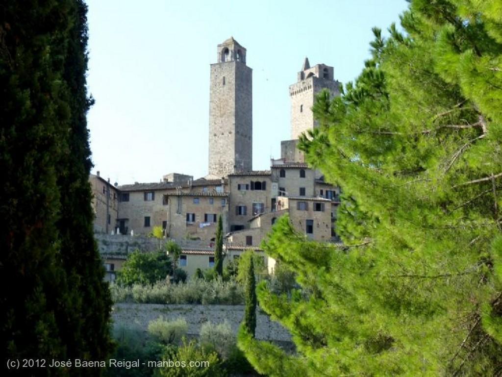 San Gimignano Alqueria y cipreses Siena