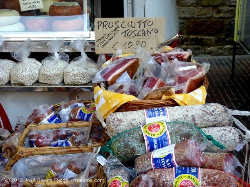San Gimignano Vista a la colinas Siena