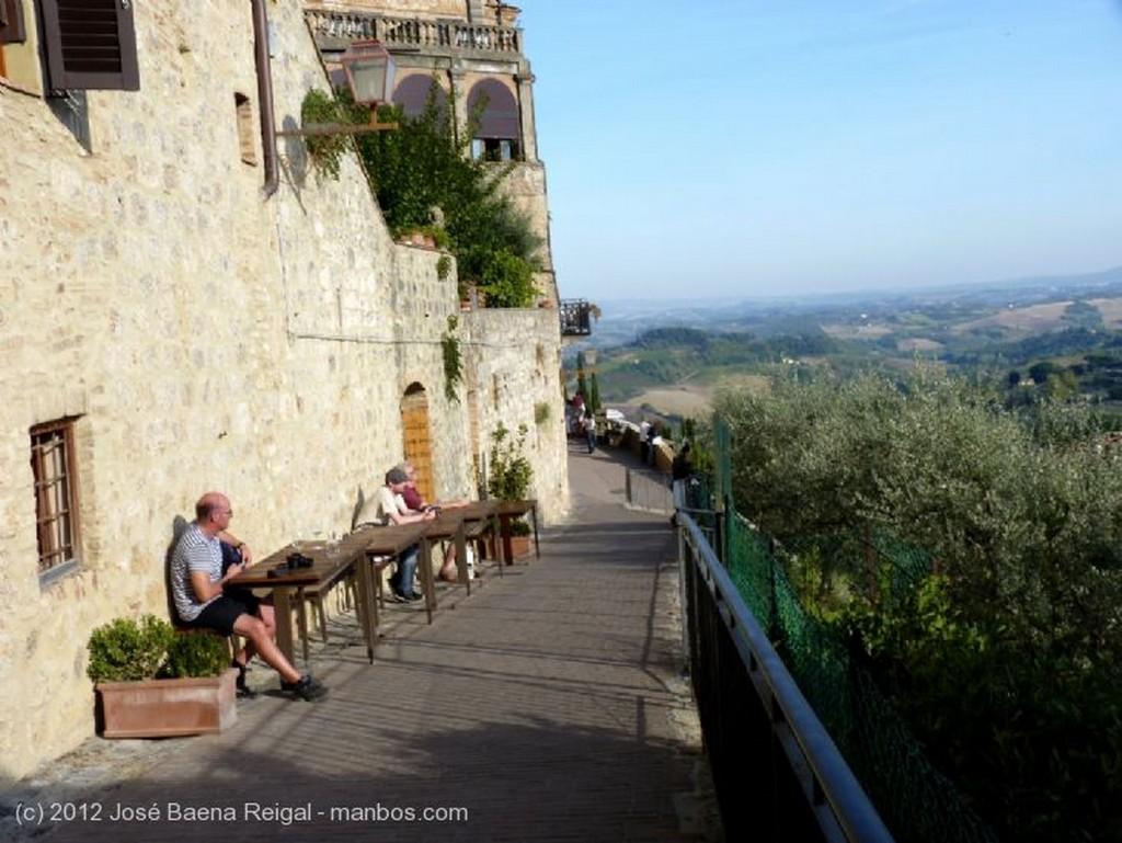 San Gimignano Escenario espectacular Siena