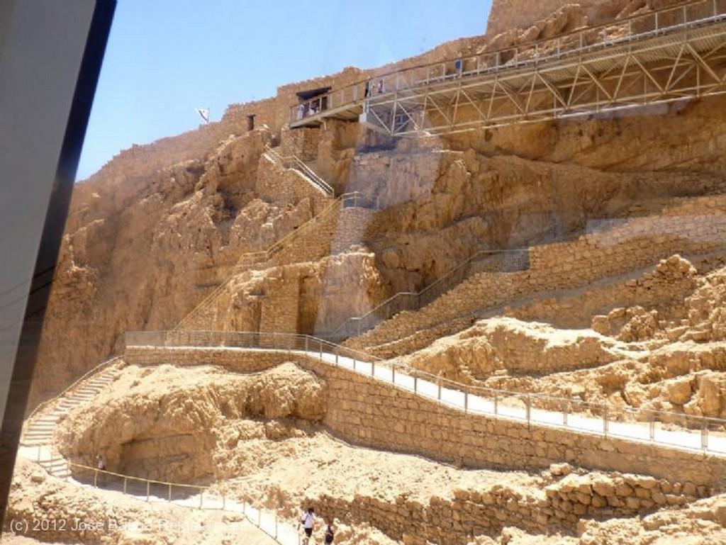 Masada Desde el telesferico Distrito Meridional