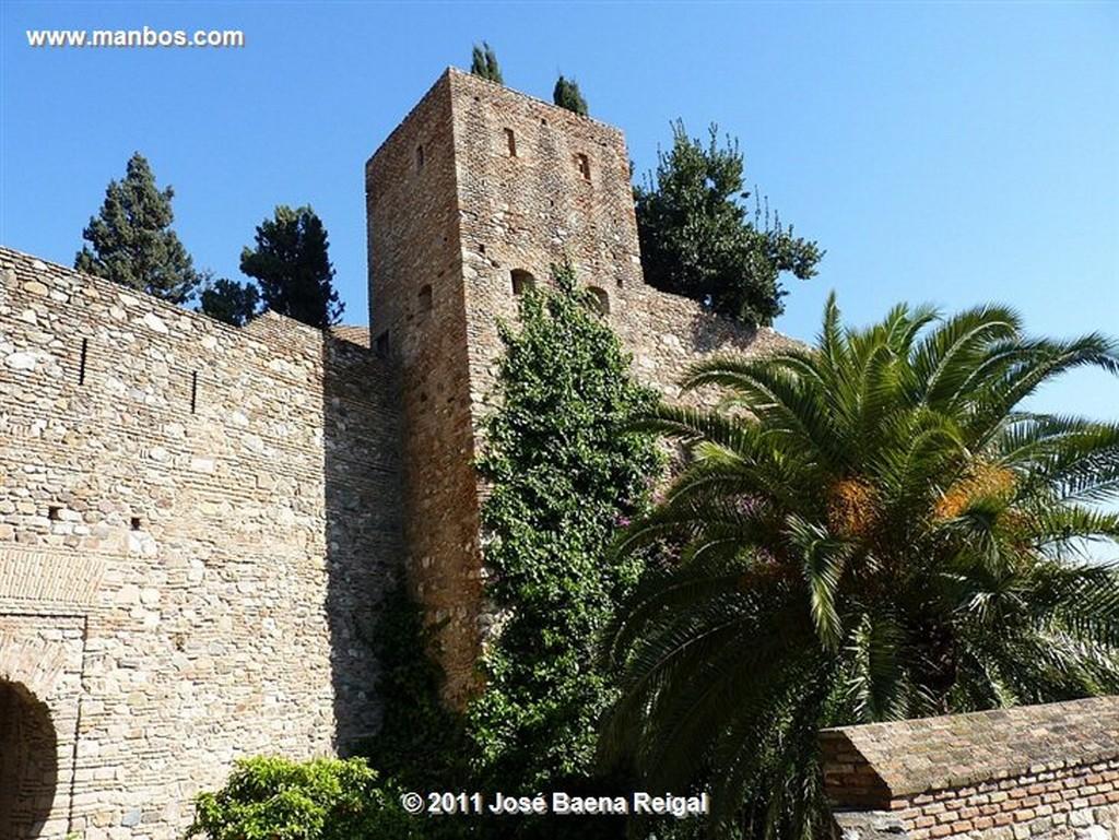 Malaga Torre y Puerta del Cristo  Malaga