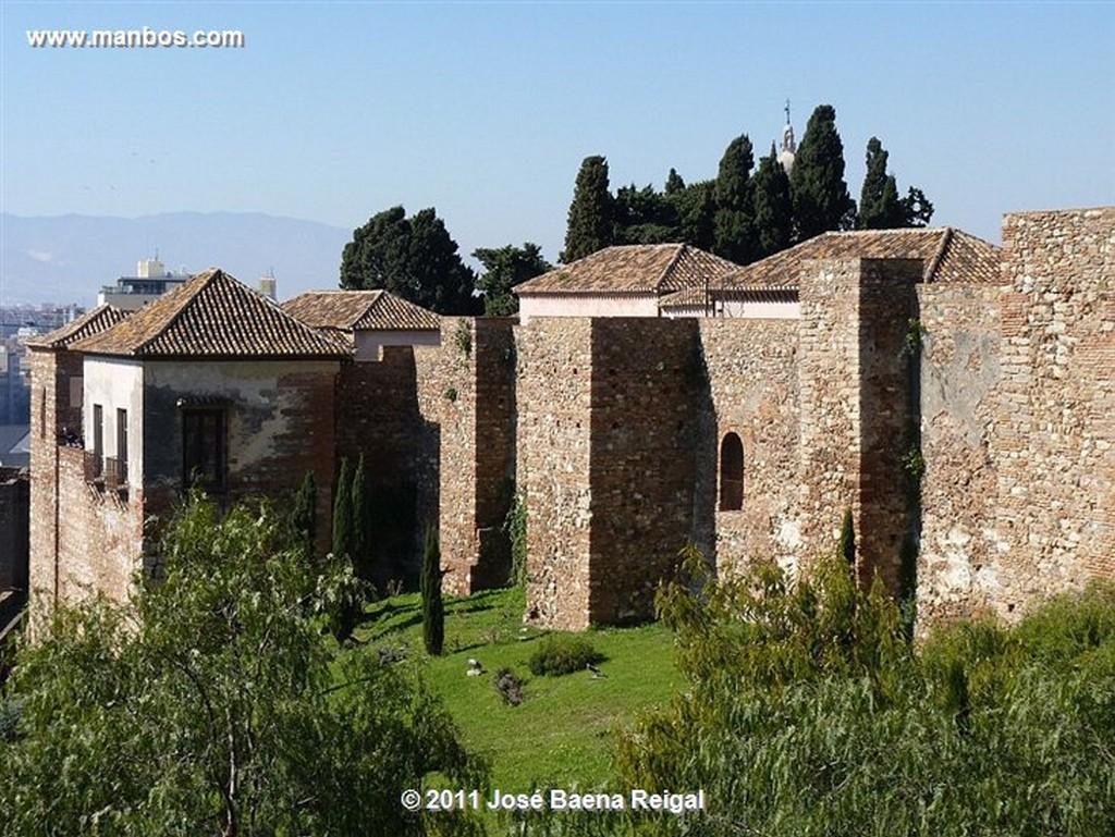 Malaga Jardines del Parque desde la Alcazaba  Malaga