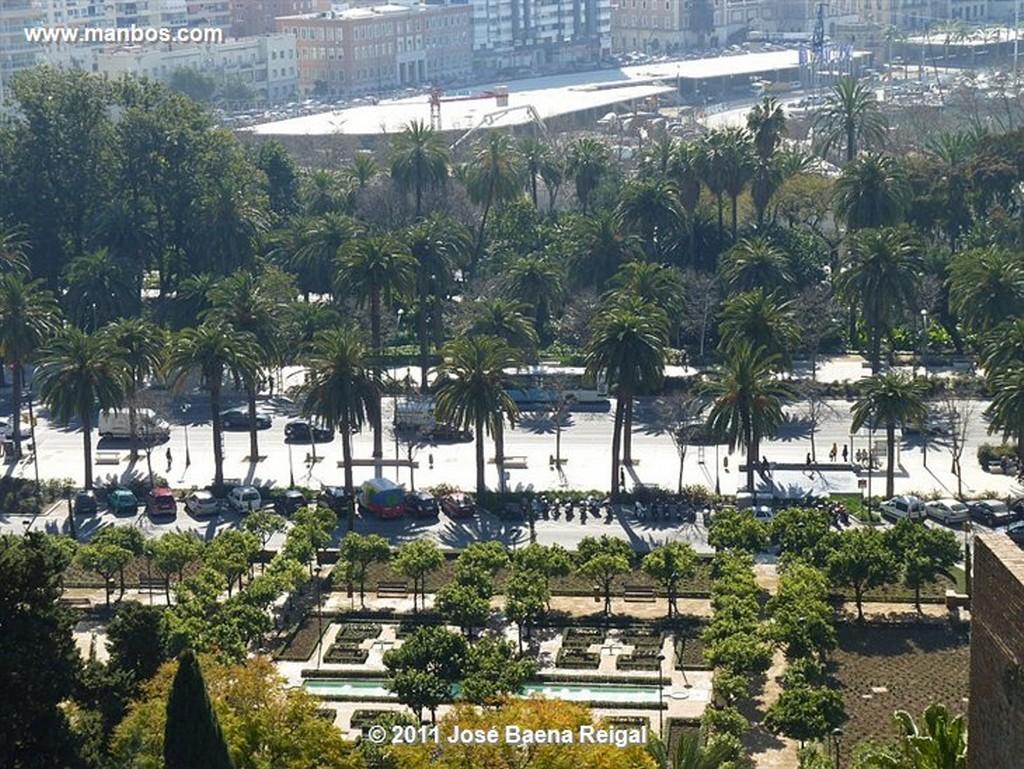 Malaga Jardines del Patio de Armas  Malaga