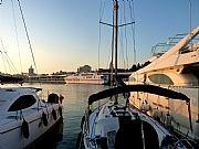 Foto de Malaga, Puerto de Malaga, España - A la puesta del sol